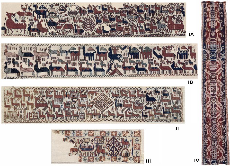 Fig. 1: Los cuatro tapices de Överhogdal.